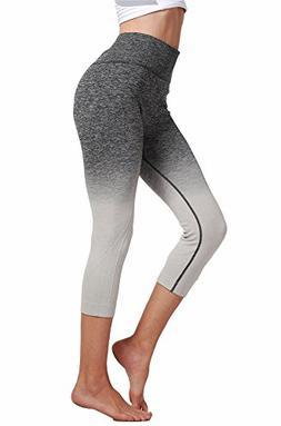 RUNNING GIRL Ombre Yoga Leggings Seamless Power Stretch High