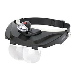 Carson Optical Pro Series MagniVisor Deluxe Head-Worn LED Li