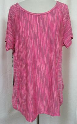 90 DEGREE by REFLEX Pink Short Sleeve Moisture Wicking Athle