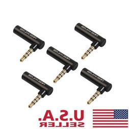 Plug Right Angle Connector 90 Degree 3.5mm Male To Female St