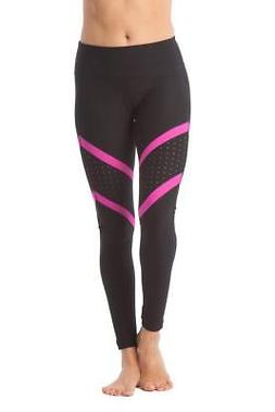 90 Degree By Reflex Pop of Color Legging - Magenta - Medium