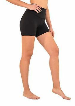 90 Degree By Reflex - Power Flex Yoga Shorts Black High Wais