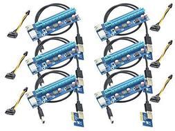 Panto 6-Pin Powered PCI-E PCI Express Riser - VER 006C - 1X