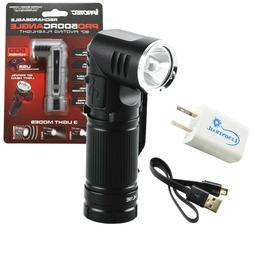 pro500rcangle rechargeable 90 degree pivoting flashlight w