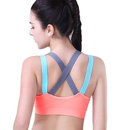HeartFor Racerback Sports Bras for Women - Padded High Impac