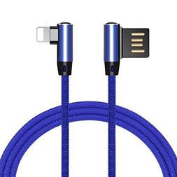 Geekercity 3FT Right Angle Lightning Cable, 90 Degree iPhone