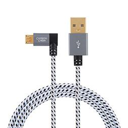 CableCreation 10 Feet Right Angle Micro USB 2.0 Braided Cabl