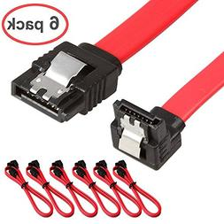 Relper-Lineso 6 Pack 90 Degree Right-Angle SATA III Cable 6.