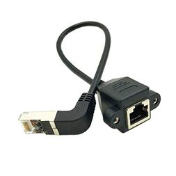 Wpeng RJ45 LAN Network Extension Cable,90 Degree Angle RJ45