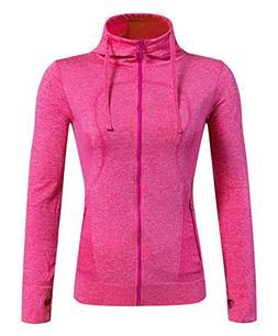 Selighting Women's Running Sweatshirts Full Zip Hoodie Yoga