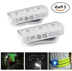 ROCONTRIP Safety Light, Clip On Rechargeable LED Running Lig