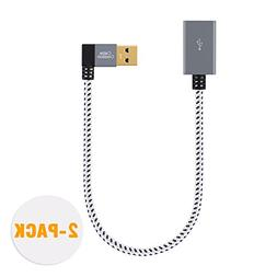 CableCreation  short  USB3.0 Extension Cable, Left Angle USB