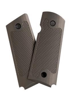 Alumagrips Slimline Standard Checkering Grip, Olive Gray, Co