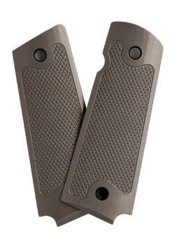 Alumagrips Slimline Standard Checkering Grip, Olive Gray, Fu