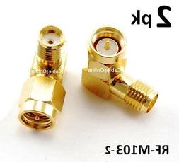 CablesOnline SMA Male to Female Right Angle 90-Degree Adapte