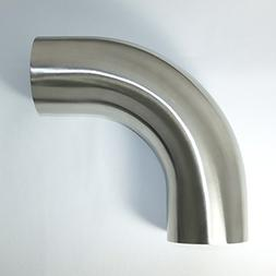 """Stainless 2.5"""" 90° Mandrel Bend Elbow - 1.5D/3.75"""" CLR Loos"""