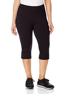 Spalding Women's Plus-Size Straight Leg Crop Pant, Black, 3X