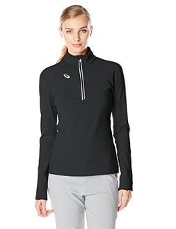 ASICS Women's Thermal XP Extra Protection 1/2 Zip Top, Black