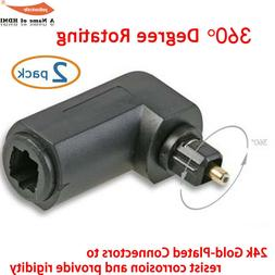 Toslink Digital Optical, 90 Degree Right Angle 360 Roating,