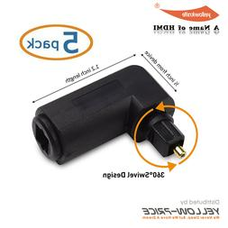 TOSLINK Right Angle Digital Audio Adapter, Optical, 90 Degre