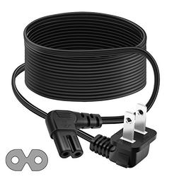 Outtag 12FT 2-Prong AC Power Cord Cable 2Slot L-Type for Ca