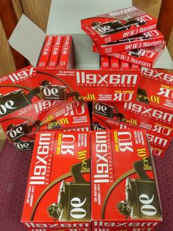 Maxell UR-90 Blank Audio Cassette Tape New 10 Pack  Free Shi