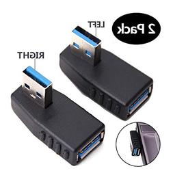 USB 3.0 Adapter 90 Degree Male to Female Coupler Connector P
