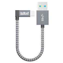 USB a to USB c Cable TecMad 90 Degree Plug Nylon Braided Typ