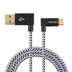 USB Type C Cable, CableCreation 4 FT Right Angle USB 2.0 A t