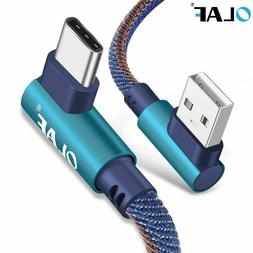 USB Type C 90 Degree Fast Charging usb cable Type-c data Cor