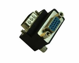 VGA 90 Degree UP Angle Adapter   Nickel Plated