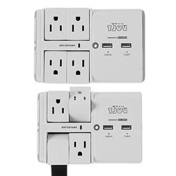 Hype Volt  Wall Tap Swivel Surge Protector with USB 4 Smart