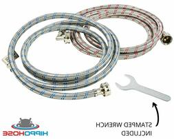 Washing Machine Hose Stainless Steel Braided 90 Degree Elbow