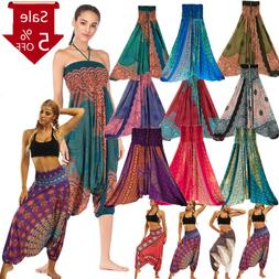 Women Casual Summer Loose Yoga Trousers Baggy Boho Aladdin J