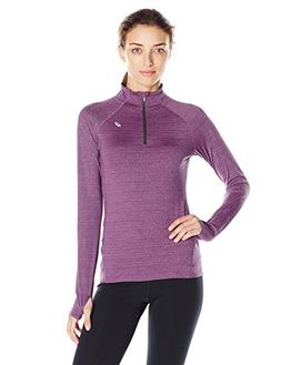 ASICS Women's Lite Show 1/2 Zip Jacket, Orchid Heather, Medi