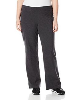 Spalding Women's Plus SizeWomen's Bootleg Pant, Charcoal Hea
