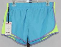 90 Degree by Reflex Womens Ladies Turquoise Athletic Shorts