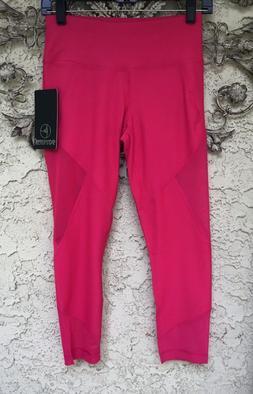 90 DEGREE by Reflex Womens Pink Active Yoga Capri Legging Pa