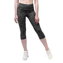 Yunoga Women's Yoga Calf Pants - Workout Leggings with Hig